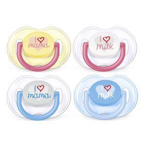 Image de Philips Avent SCF172/50 - 2 sucettes I love Mama en silicone (0-6 mois)