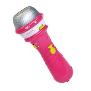 Bontempi Microphone de karaoké portable rose