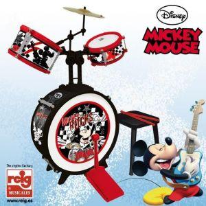 Reig Musicales Batterie 3 éléments avec siège Mickey Mouse