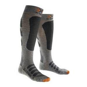 X-Socks Silk Merino Chaussettes de ski en soie et laine mérinos Gris Gris/anthracite 39-41