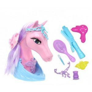 Fomax Tête à coiffer cheval Mirabelle avec accessoires (21 cm)