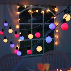 PARTY BALLS Guirlande d'extérieur LED 20 L ières à croc t L10,7m Vert