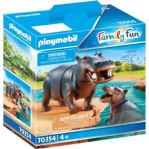 Playmobil Family Fun Hippo with Baby 70354