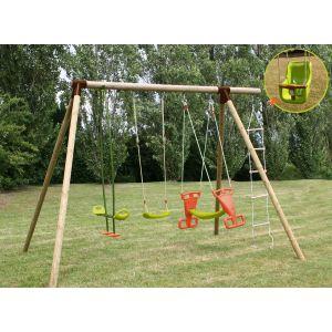 Soulet Carambole - Portique 5 agrès en bois 1,70 m