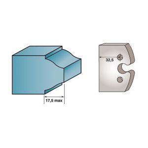 Diamwood Platinum Jeu de 2 fers profilés Ht. 40 x 4 mm BRUT M193 pour porte-outils de toupie