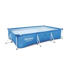 Bestway Piscine tubulaire rectangulaire Steel Pro™300x201x66cm acier jardin enfant été - DEUBA