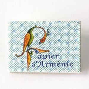Papier d'Arménie Carnet de 12 feuilles de 3 lamelles