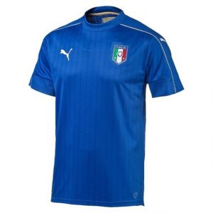 Puma FIGC Maillot Homme Team Power Blue/White FR : XXL (Taille Fabricant : XXL)