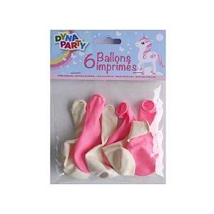 Dynastrib Ballons imprimés - licorne x6