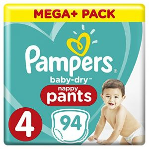 Pampers Couches Baby Dry pants T. 4 pack Mega Plus 8-15 kg