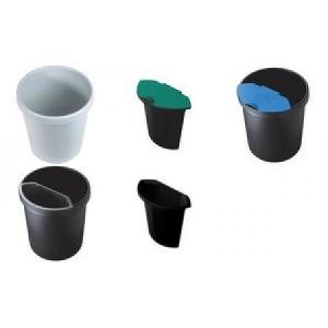 Helit H61061/H61062 - Bac pour corbeille à papier en plastique (6 L)
