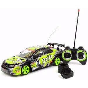 New Ray Voiture Drift Xtuner Miniature - Radiocommandé 1/14° 26cm vert