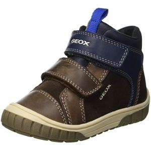 Geox B Omar B, Sneakers Basses Bébé Garçon, Marron (Coffee/Navy C6mf4), 23 EU