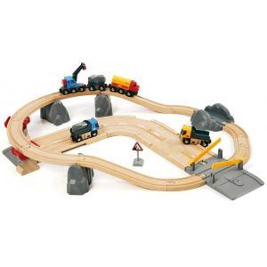 Brio Circuit rail route : transport de roches