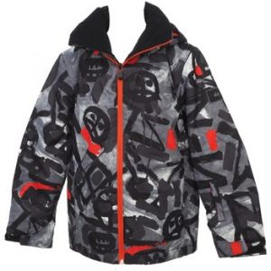Quiksilver Mission Veste Homme, Anthracite/Pattern 1, FR : 2XL (Taille Fabricant : XXL)