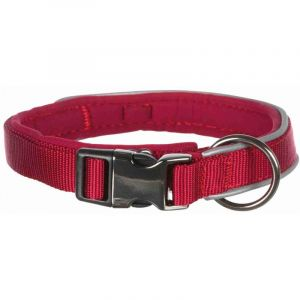 Trixie Experience collier - M-L: 37-50 cm/20 mm, rouge lie de vin