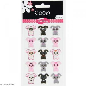 Maildor Stickers Cooky Petits chiens