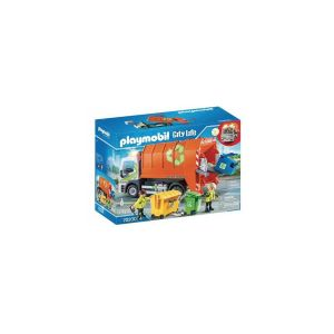 Playmobil 70200 Camion de recyclage des ordures City Life Orange