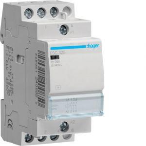 Hager Contacteur 25A 3F 230V ESC325