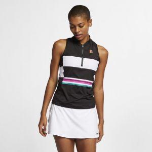 Nike Débardeur de tennis imprimé Court Power Slam pour Femme - Noir - Taille S
