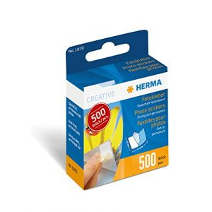 Herma 1070 - Pastilles adhésives double face dans un carton distributeur