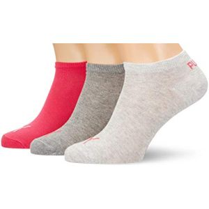 Puma Chaussettes et collants -underwear Sneaker Plain 3 Pack - Middle Grey Melange / Pink - EU 35-38