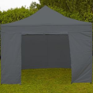 MobEventPro Mur porte zippable tente pliante PRO 40MM 4,5m gris