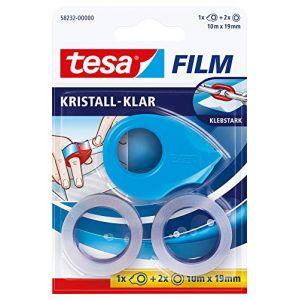 Tesa Mini dérouleur film t 232 + 2 rouleaux dadhésif bleu 1 paquet(s)