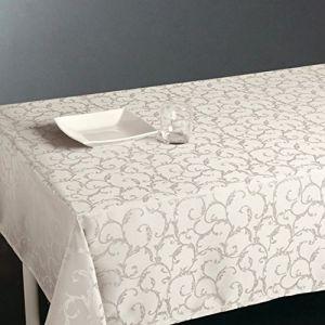 Nappe rectangulaire anti-tache Jacquard (150 x 300 cm)