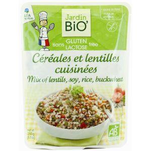 Jardin Bio Céréales et lentilles cuisinées sans gluten