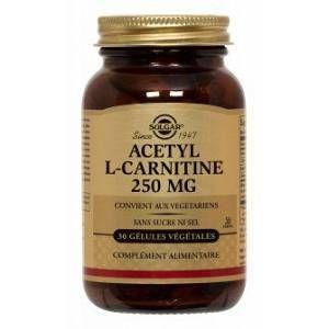 Solgar Acétyl-L-Carnitine 250mg 30 gélules végétales