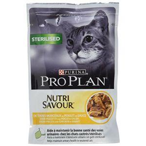 Purina Proplan Cat Nutrisavour Sterilised Poulet 24 pochons 85 grs