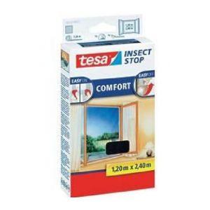 Tesa Moustiquaire Comfort pour portes-fenêtres - 1,20m x 2,4 m - Noir