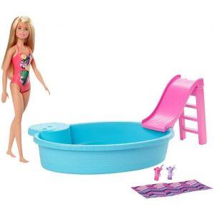 Mattel Et sa Piscine - GHL91 - Coffret Poupée Mannequin - 3 ans et +