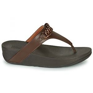 FitFlop Tongs LOTTIE CHAIN TOE-THONGS - Couleur 36,37,38,39,40,41,42 - Taille Marron