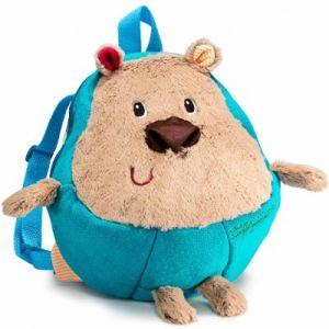Lilliputiens Sac à dos enfant peluche César l'ours bleu