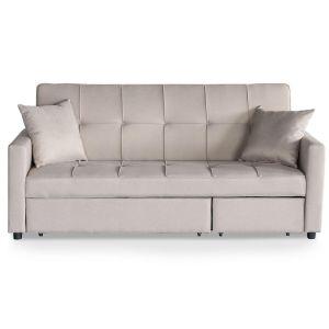 Canapé convertible tissu beige 3 places Kant