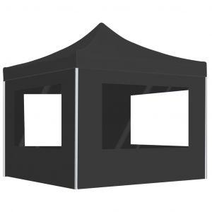 VidaXL Tente de réception pliable à parois Aluminium 3 x 3m Anthracite