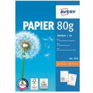 Avery-Zweckform Papier ramette Avery 500 Feuilles multi-usage 80g/m²