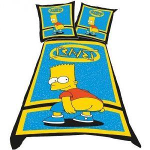 Belltex The Simpsons Bart Nude - Housse de couette et taie 100% coton (135 x 200 cm)
