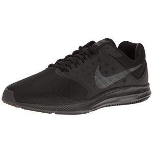 Nike Downshifter 7, Chaussures de Course Homme, Red 648, Noir (Black / Metallic Hematite / Anthracite), 43 EU