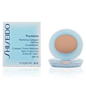 Shiseido Pureness 20 Light Beige - Compact teinté matifiant sans corps gras SPF 15