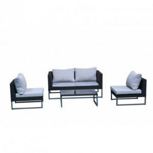 Delorm Design CLEVER - Salon de jardin Gris/Noir