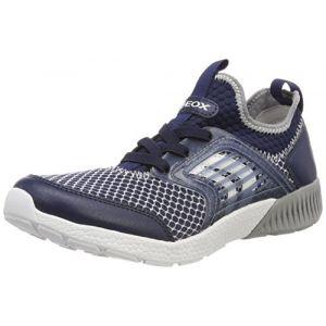 Geox J Sveth A, Sneakers Basses garçon, Bleu (Navy/Grey), 31 EU