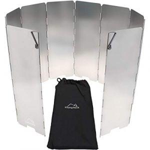 igadgitz CampTeck U6928 - Pare-Vent Pliable 10 Plaques en Aluminium Pare-Brise pour Rechaud de Camping, Pique-Nique Cuisinière à Gaz etc