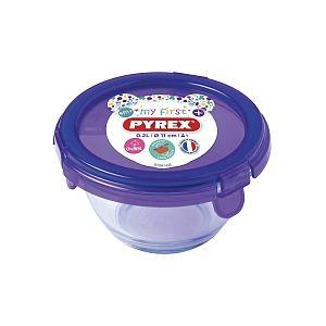 Pyrex Plat rond avec couvercle My First Pyrex - Ø11 cm - Violet