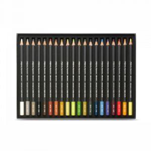 Caran d'Ache Museum Aquarelle Landscape Lot de 24 crayons aquarelle de qualité extra fine - Couleurs assorties