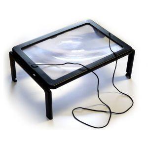 Hestec Aide aux séniors Loupe à poser grand format LED