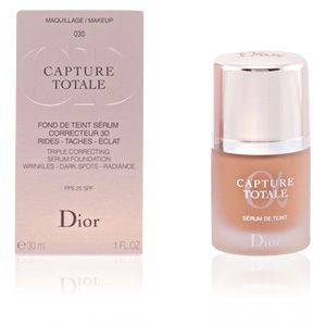 Dior Capture Totale 030 Beige Moyen - Fond de teint sérum correcteur 3D rides - taches - éclat