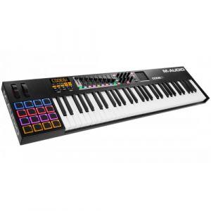 M-Audio CODE 61 - Clavier Maître MIDI 61 Touches AfterTouch avec Pad Tactile X/Y, 16 Pads - 9 Faders + Logiciels VIP.30, Ableton Live Lite, Hybrid 3.0 et Loom Inclus - Noir